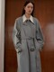 20SS ARMHOLE STITCH TRENCH COAT - BLUE GREEN