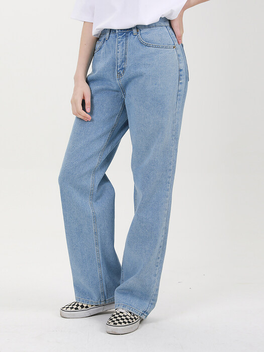 WIDE DENIM PANTS C518PT001-LB