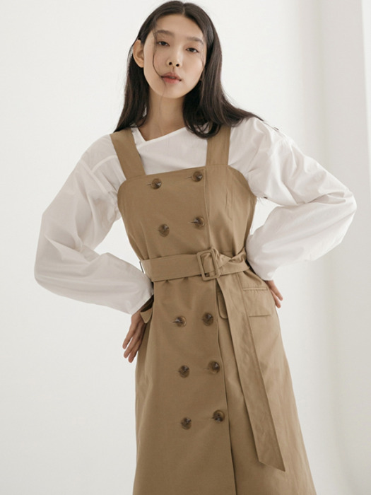 Double Trench One-piece - Beige