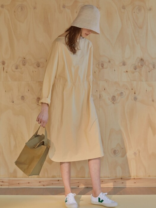 루즈핏 19ss - Modern basic dress - banila beige