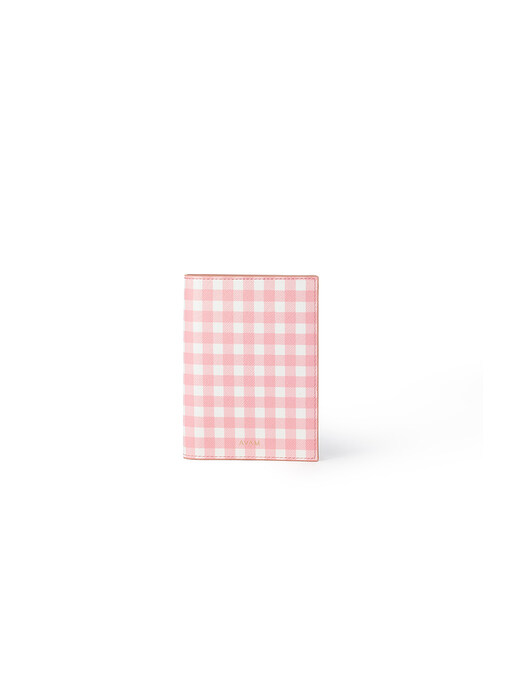 Gingham Passport Case (2 COLOR)