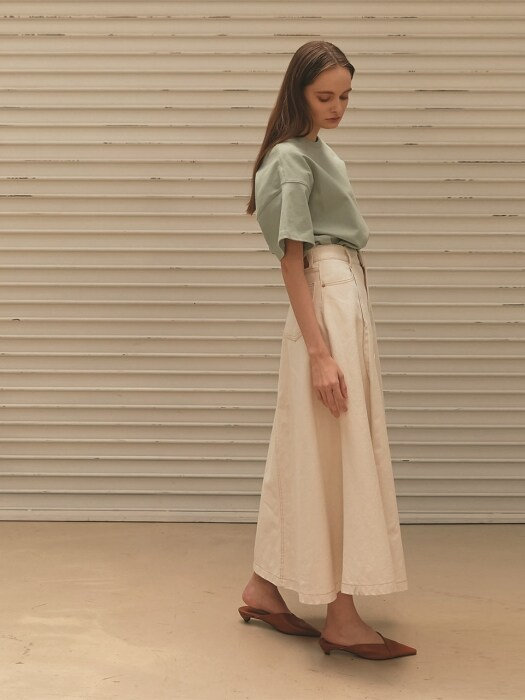NATURAL COVER WRAP LONG SKIRT