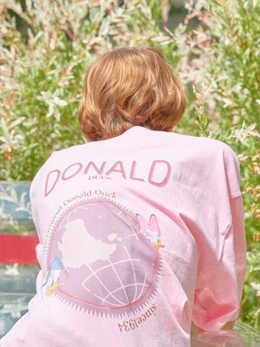 [DISNEYxORDINARYPEOPLE] :-P donald duck pink t-shirt