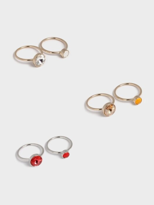 RFS STONE RING SET(2) (3 colors)