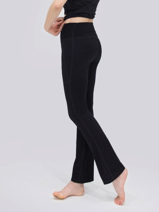 Light Flare Leg Trouser-Black