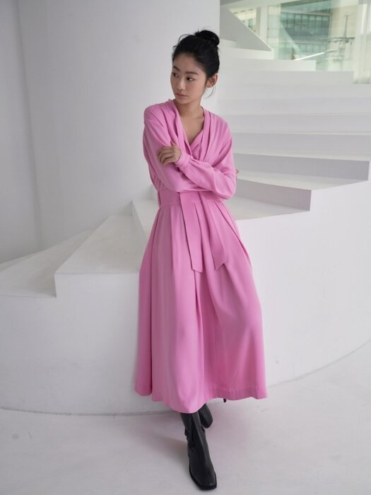 two piece dress_blomming pink