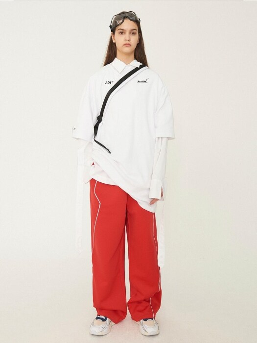 Thunder track trousers Red