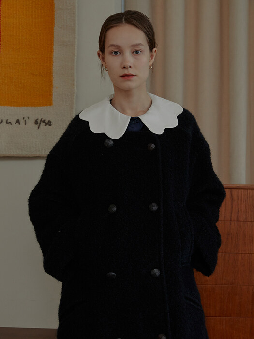 Merry Double-breasted Wool Coat_Black