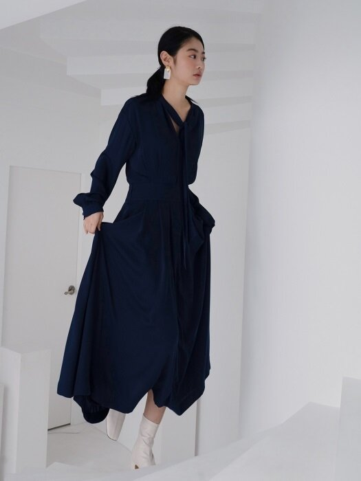 two piece dress_ink navy