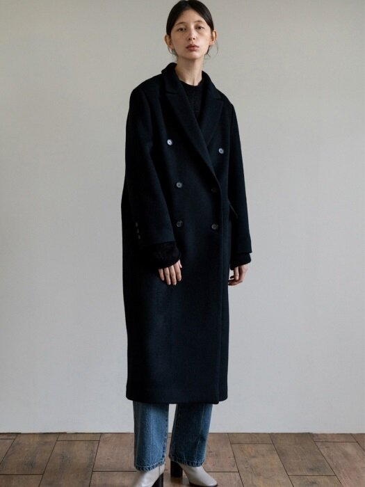 cashmere coat (black)