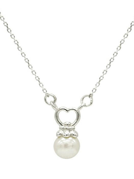 Hoilday Heart Pearl Necklace