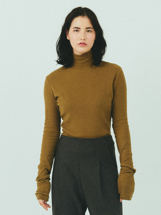 BENSIMON HALF TURTLE NECK KNIT - OLIVE
