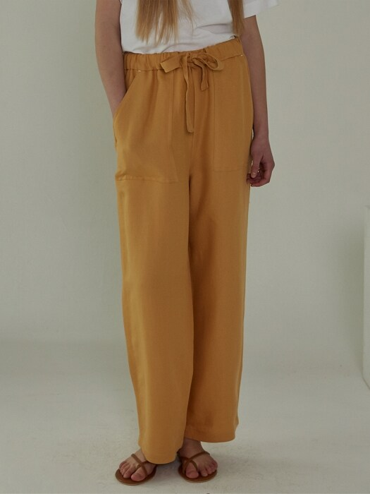 STRAP `drop` PANTS - YELLOW