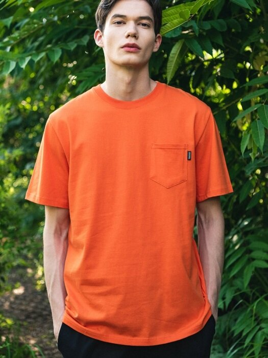 UNISEX Lean Logo Tee-Orange