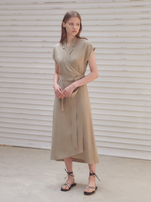 Tailored summer wrap dress [BE]
