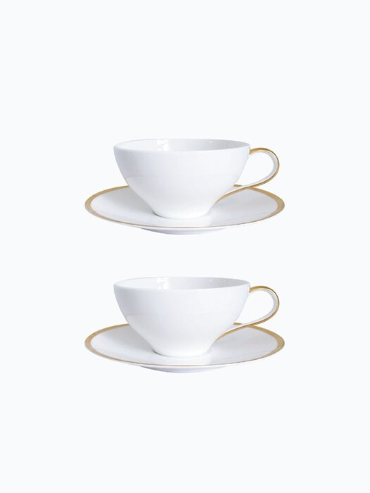 GoldenEdge Teacup&saucer_Nouveau(2인조)