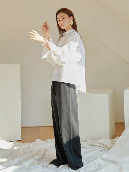 Comfort wide pants_Black