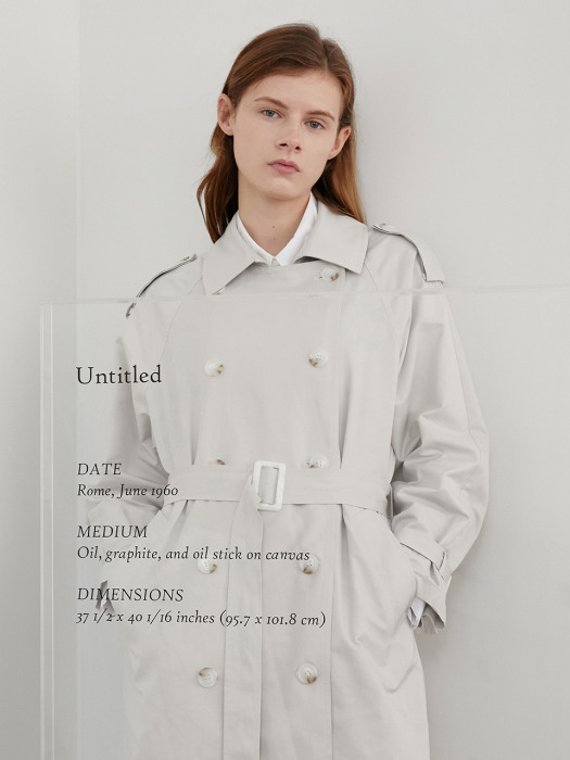 A COTTON TWILL TRENCH CT_LIGHT GREY