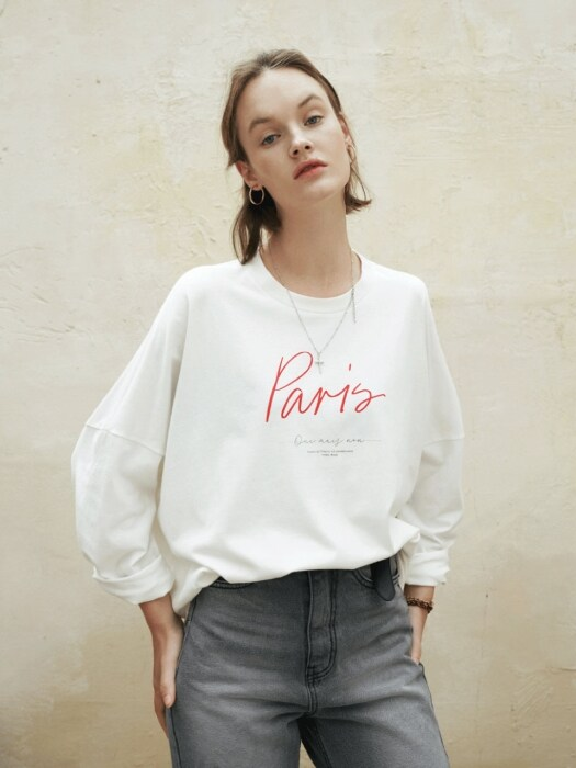 Paris print T-shirts