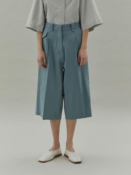 20SS BERMUDA PANTS - BLUE GREEN