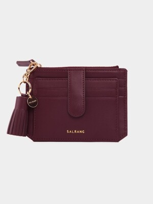 Dijon 301S Flap mini Card Wallet burgundy