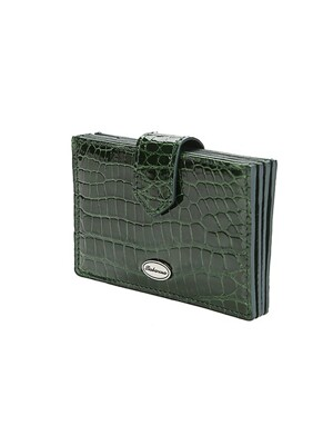 악어가죽(Accordion card wallet) Deep green