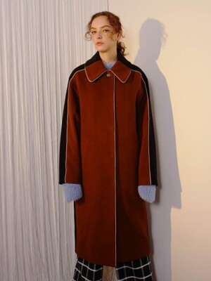 [UNISEX] R BACK COLOR BLOCK COAT