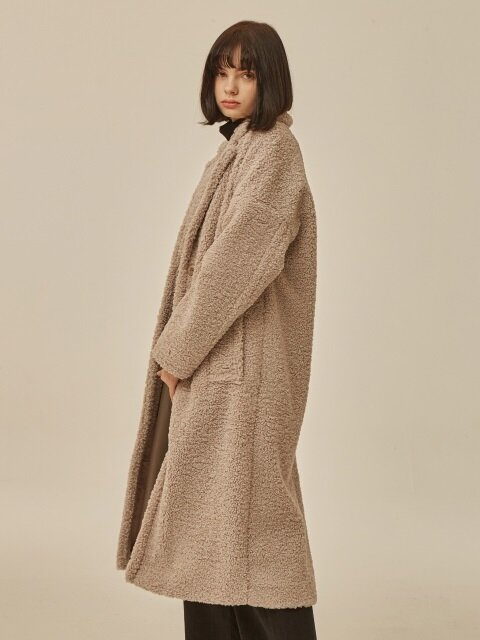 18FW FUR SINGLE COAT BEIGE