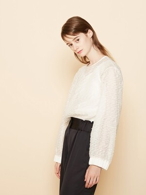 See-Through VOID BLOUSE _ 2 COLOR