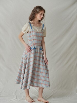tie-waist tweed dress