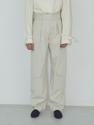 19FW DOWN POCKET PANTS - CREAM