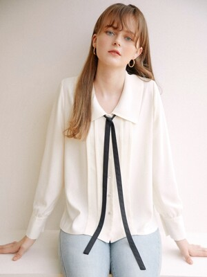 Coco Collar Blouse_Ivory