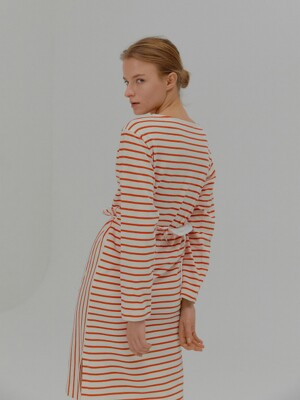 MIA Striped Separable Dress Red