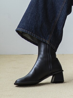 BJB19414 MOOD ANKLE BOOTS BLACK