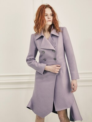 Unbalance Cut-Off Coat