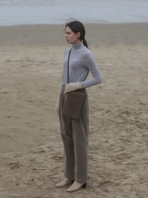 SOFT WARMER TURTLENECK TOP - LIGHT GREY