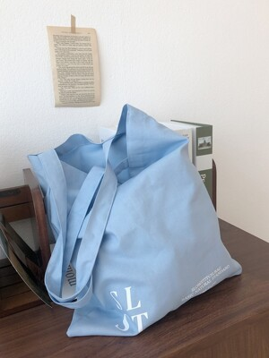 slowstitch simple logo bag ( sky blue )