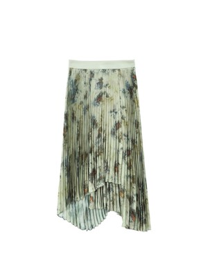 FOREST TIE-DYED PLEATED SKIRT apa352w(GREEN)