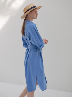 20N summer basic shirts dress [BL]