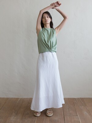 KNOT SLEEVELESS TOP - GREENERY