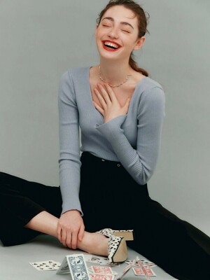 V. square neck knit (10colors)