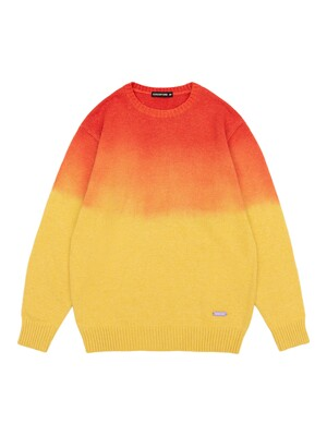 GRADATION BASIC KNIT PULLOVER [CORAL]