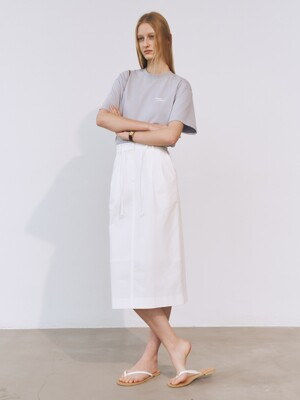 BANDED STRING SKIRT WHITE_UDSK1E202WT