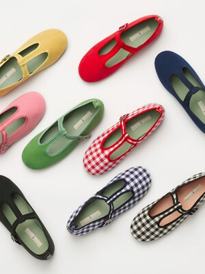 JONGDALRI T-strap flat shoes (9color)