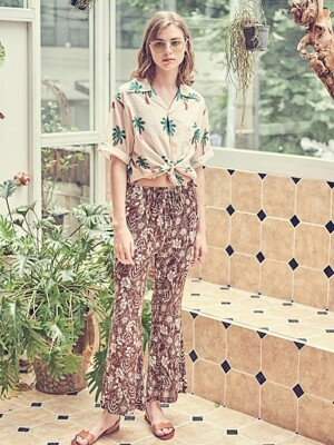 LAZY HEAVEN Long Pants - Brown