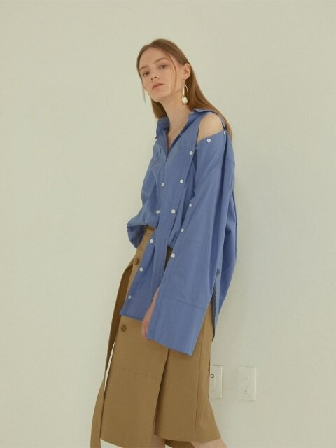 Poeme asymmetry shirts _ Blue