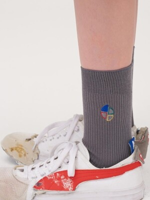 Slice logo socks Grey