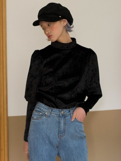 VELVET PUFF BLOUSE T-SHIRTS