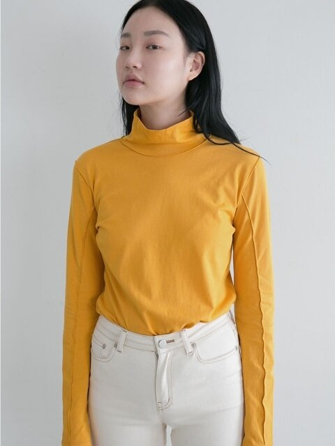 LINED TURTLENECK CITRUS