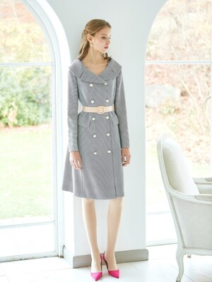 OLA / Open Collar Belted Dress